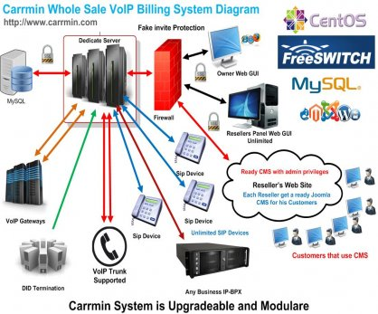 Carrmin VoIP Billing with DIDs Re-invite Protection
